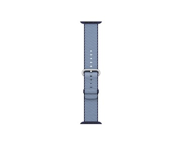 42mm Band Midnight Blue Check Woven
