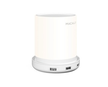 Macally Table lamp 4 port USB charger